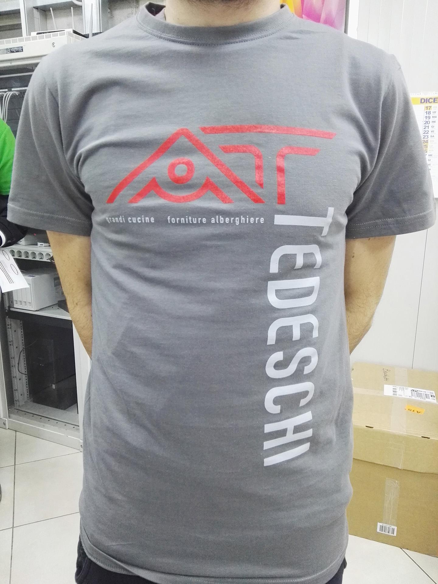 t-shirt serigrafica aziendale