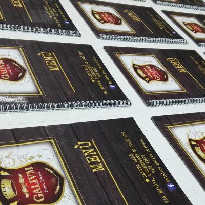 Realizzazione menu - Stampa piccolo formato a Brescia